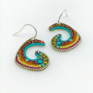 Jewelry - Sterling Silver Artisan colorful earrings